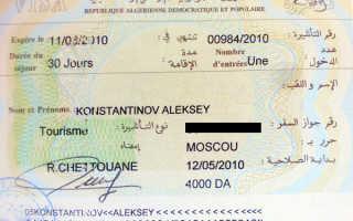 Виза в Алжир – виды, сроки и особенности получения